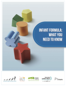 bottle feeding: infant formula booklet
